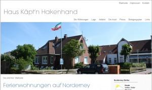 Haus Käpt'n Hakenhand Ferienwohnungen  auf Norderney